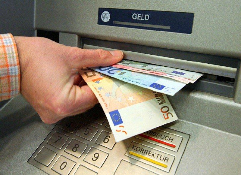 снятие денег за границей